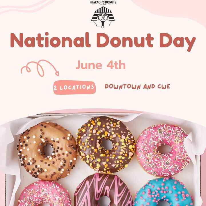 It's that time again! National donut day! The day to celebrate everything Donuts! Make sure you come get the Royal treat...