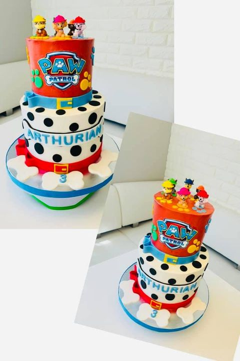 Cakes of the week 🎈🎂🎉Paw patrol, space and fruit cake