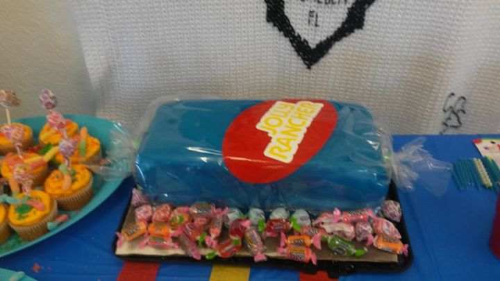 Did anyone request a jolly rancher birthday cake.