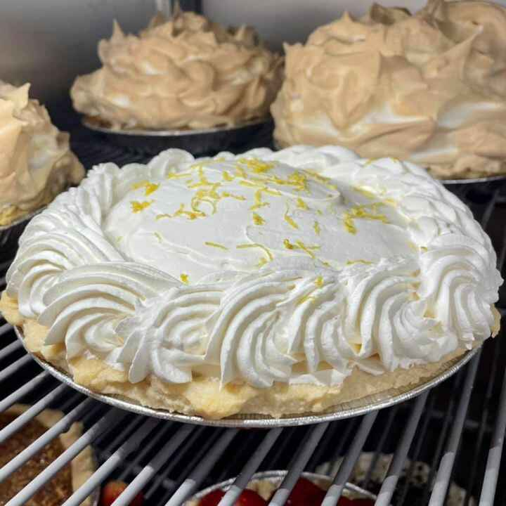 We have one sour Cream Lemon Pie up for grabs today! 🍋