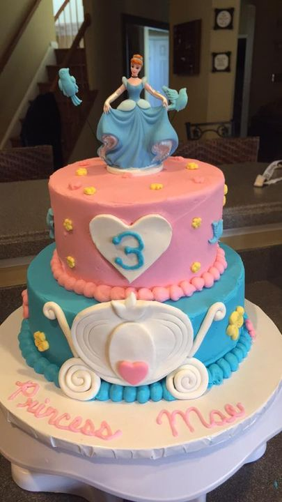 Cinderella cake I made for a very special birthday girl!