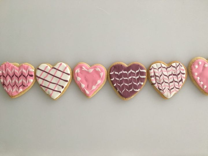 $20 Valentine Cookie Boxes are available all week! One dozen sugar cookies with whipped buttercream and sprinkles. Great...